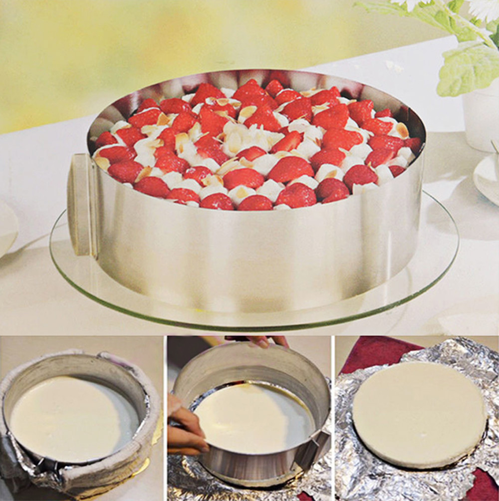 Retractable Stainless Steel Circle Mousse Ring adjustable bakeware