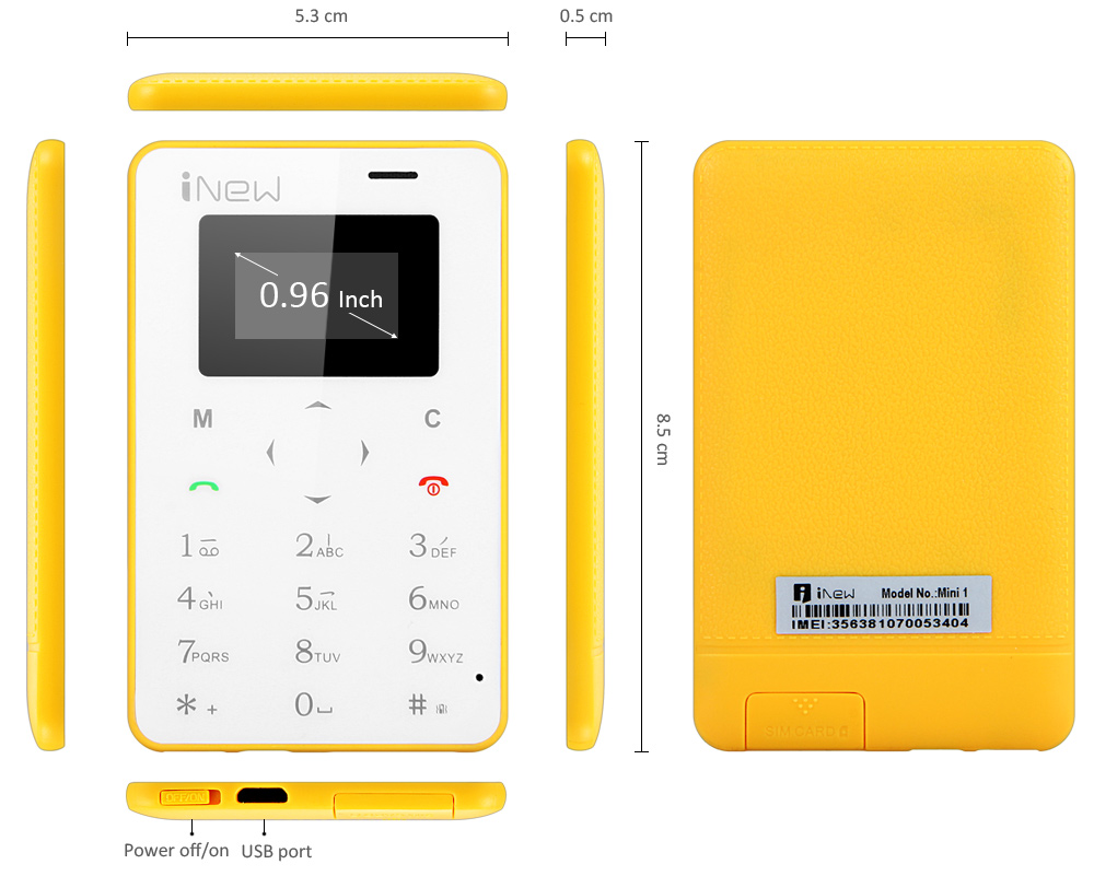 iNew Mini 1 Christmas Gift Ultra-thin Card Phone MTK6261 Bluetooth Dialing Anti-lost Remote Capture