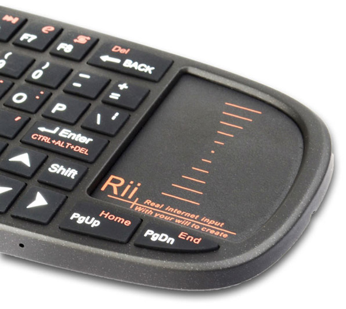 Rii i10 Mini Wireless 2.4GHz 70 Key Keyboard with TouchPad / Laser Pointer for PC / HTPC