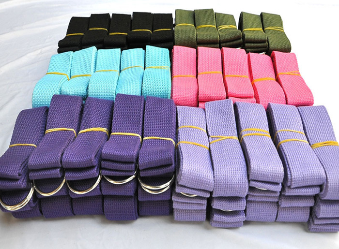 Fitness Exercise Yoga Strap with D-ring for Pilates Stretch