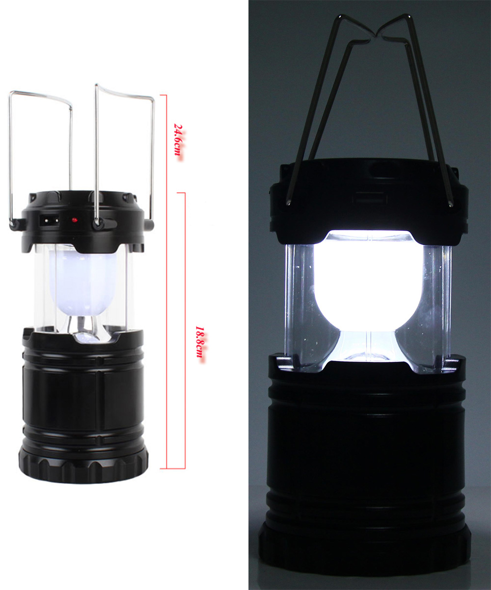6 LED Hand Lamp Collapsible Solar Camping Lantern Tent Lights for Outdoor Lighting