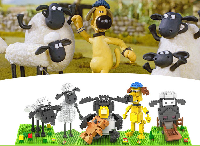 LOZ 240Pcs L- 9479 Shaun the Sheep Timmy Time Building Block Educational Toy Christmas Present