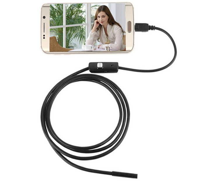 1m FS-AN01 Android Endoscope Waterproof IP67 with Inspection Snake Tube Camera