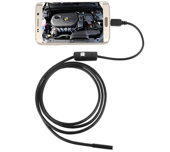 2m FS-AN01 Android Endoscope Waterproof IP67 with Inspection Snake Tube Camera