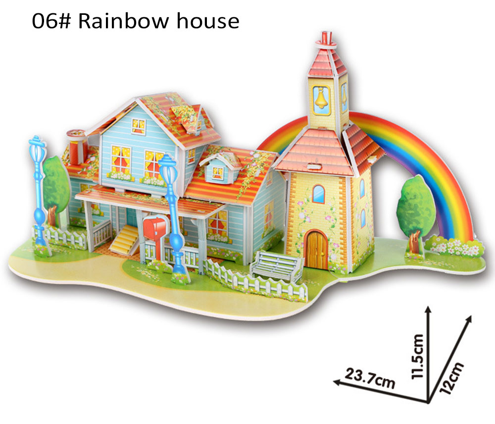 DIY 3D Jigsaw Puzzle for Kids Educational Toy