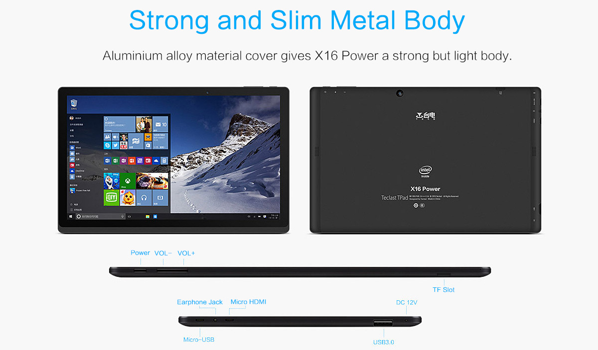 Teclast X16 Pro features