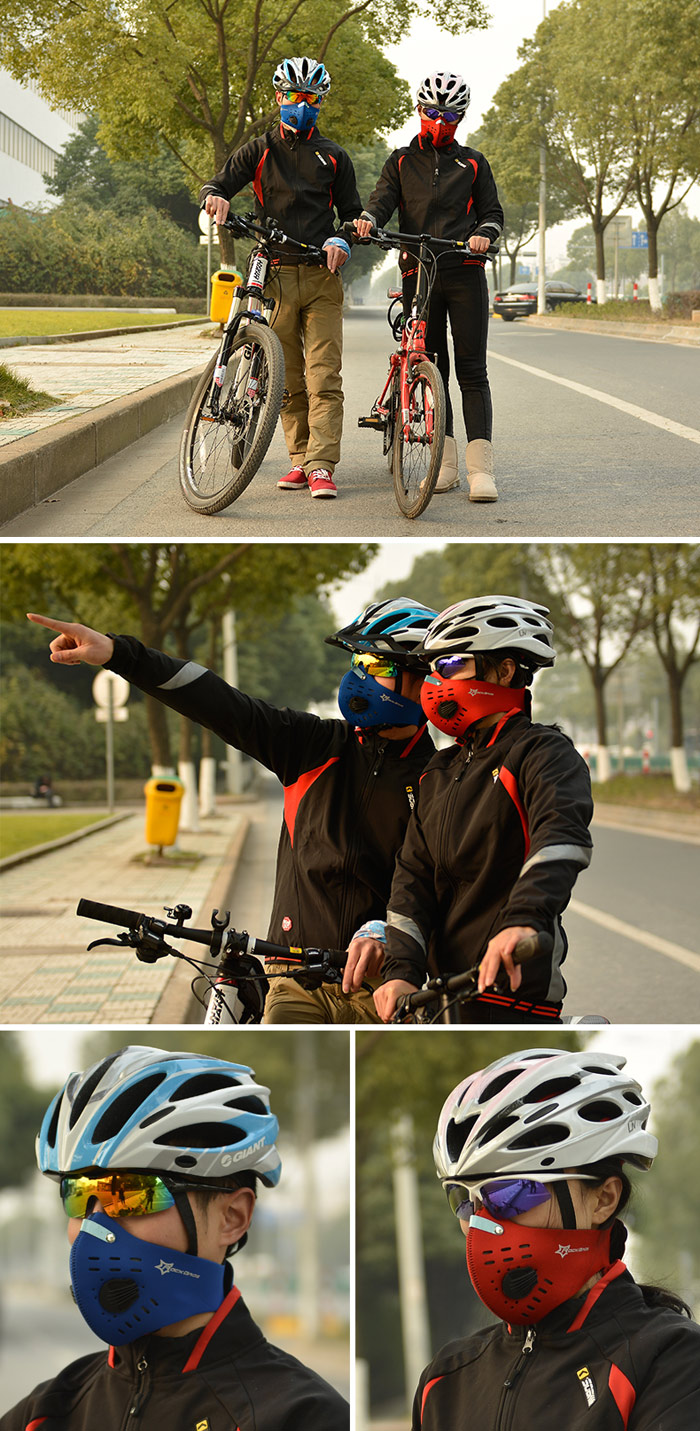 ROCKBROS Cycling Mask with 5-layer Filtering Harmful Substances