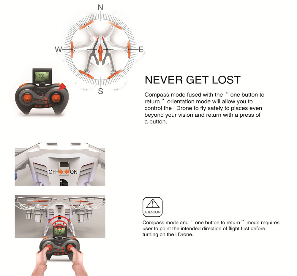 Yi Zhan I Drone I6s 6 Axis Gyro 4CH 2.4G RC Hexacopter with 2.0MP HD Camera