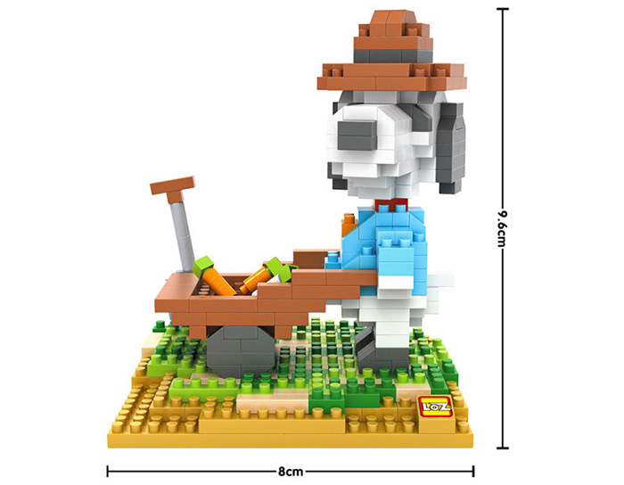 LOZ No. 9526 Snoopy Farmer Building Block for Teenager / Adult