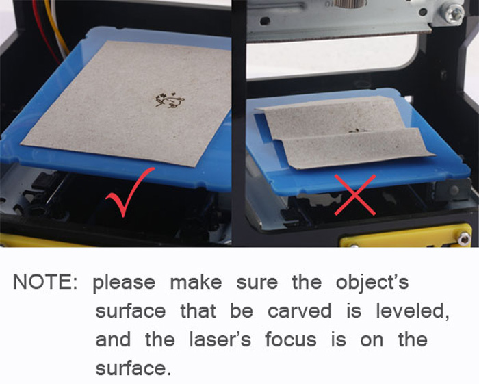 NEJE JZ-5 Mini Laser Engraving Machine Frame / Weak Light Automatic Positioning