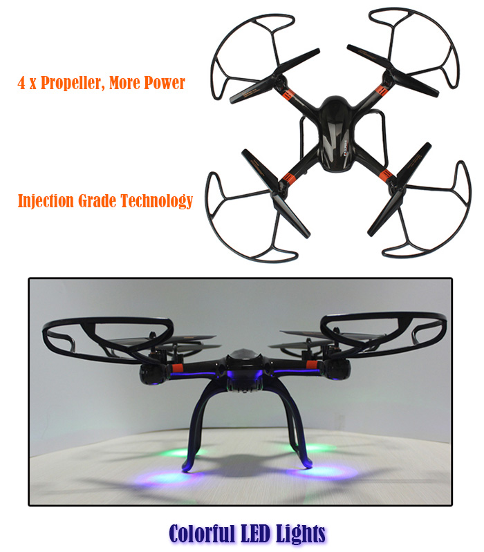 Mould King Super X 33040A 2.4GHz 4CH 4-axis RC Quadcopter with 360 Degree Flip LED Light