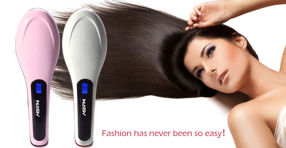 NASV - 100 Straight Hair Comb Hair Straightener with LCD