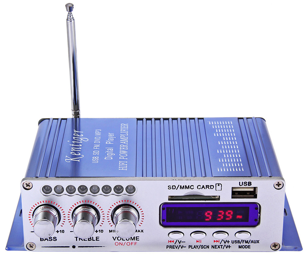 HY - 502 Hi-Fi Digital Auto Car Stereo Power Amplifier LED Sound Mode Audio Music Player Support USB MP3 DVD SD FM