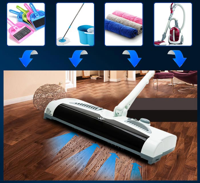 Rechargeable 2 In 1 Cordless Electric Sweeper And Mop