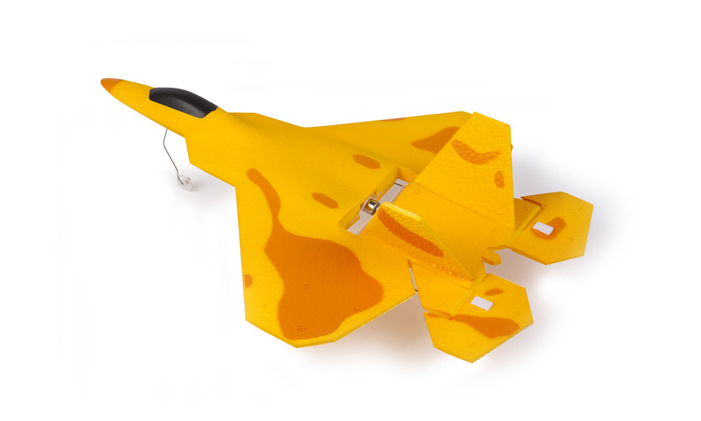 Macfree F - 22 F22 MCF2201 Brushed 2.4GHz 6CH Built-in 6 Axis Gyro Fixed-wing 222mm Wingspan Aeroplane RTF