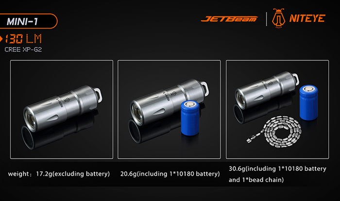 JETBeam MINI - 1 Mini Torcia LED 1 CREE XP - G2
