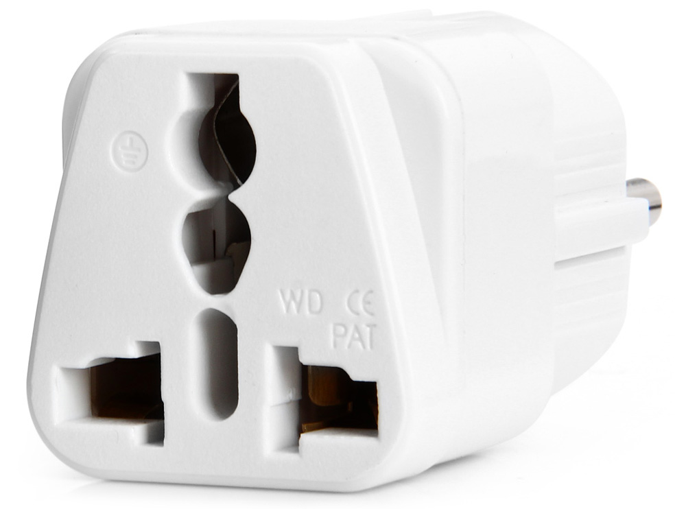 WD-9 EU Plug to Universal US UK AU Socket Power Adapter / Charger