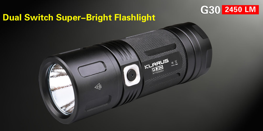 Klarus G30 CREE MT - G2 2450LM Torcia LED all' aperto
