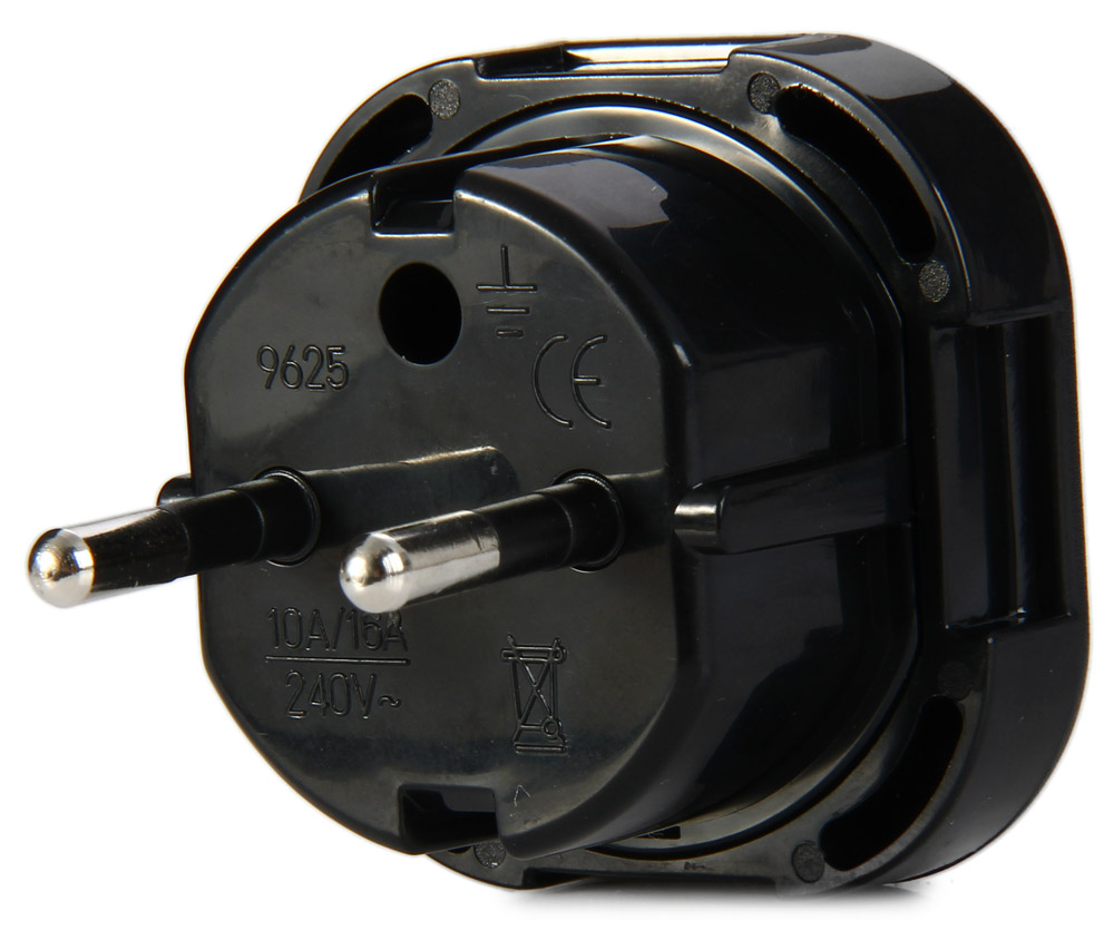 1PCS 9625-KB EU Plug to UK Travel Adapter