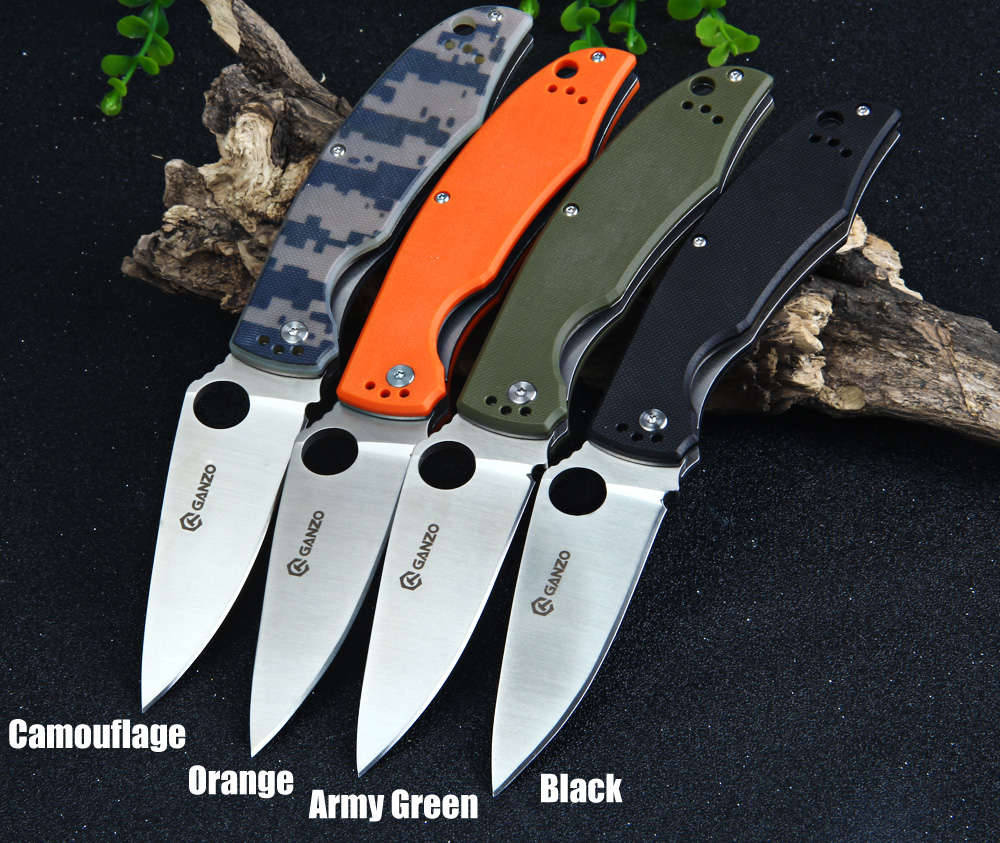 Ganzo G732-BK Folding Knife with Liner Lock G10 Handle