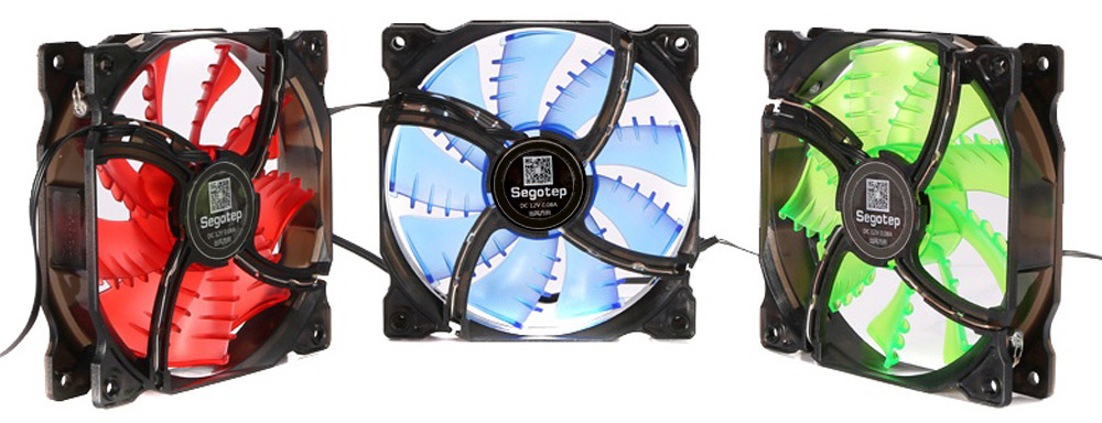 Segotep Cool Wind Case Cooler / Heatsink with LED Bright Lights