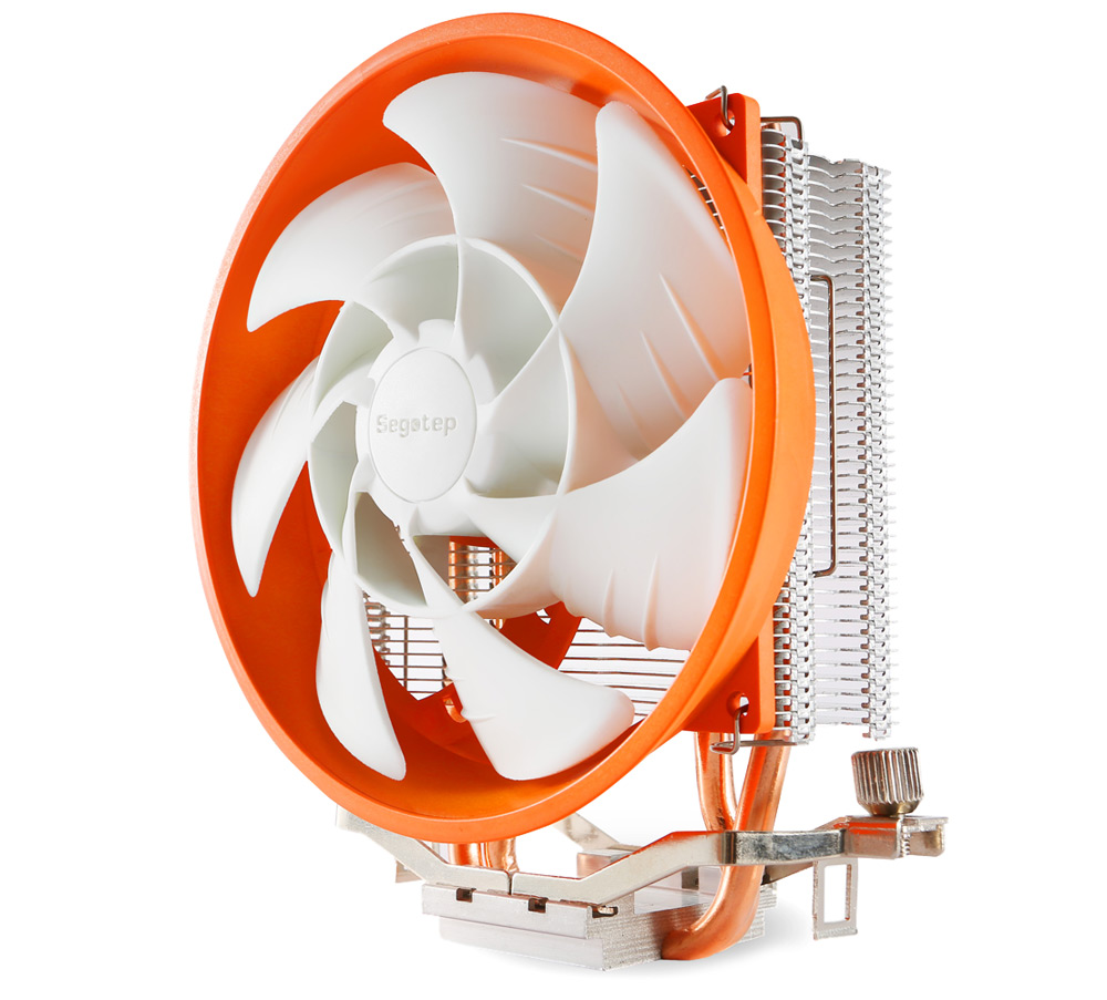 Segotep Frozen Tower T2 Plus 95W Copper + Aluminum CPU Cooler Heatsink Double Heat Pipe