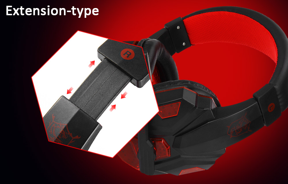 PLEXTONE PC780 Stereo Gaming Headphones Headsets with Microphone LED Light