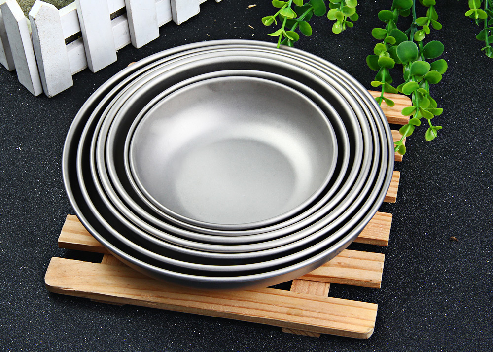 Keith 7-piece Titanium Plate Set for Daily Use