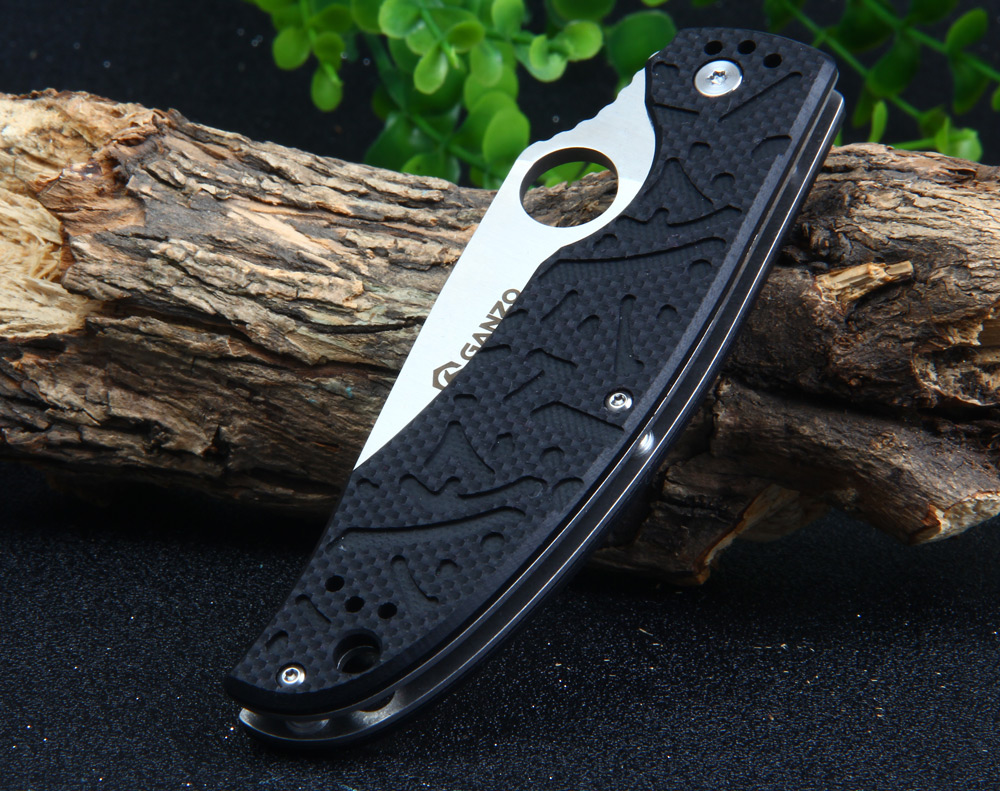 GANZO G7321-OR Liner Lock 58HRC Pocket Knife 440C Stainless Steel Blade