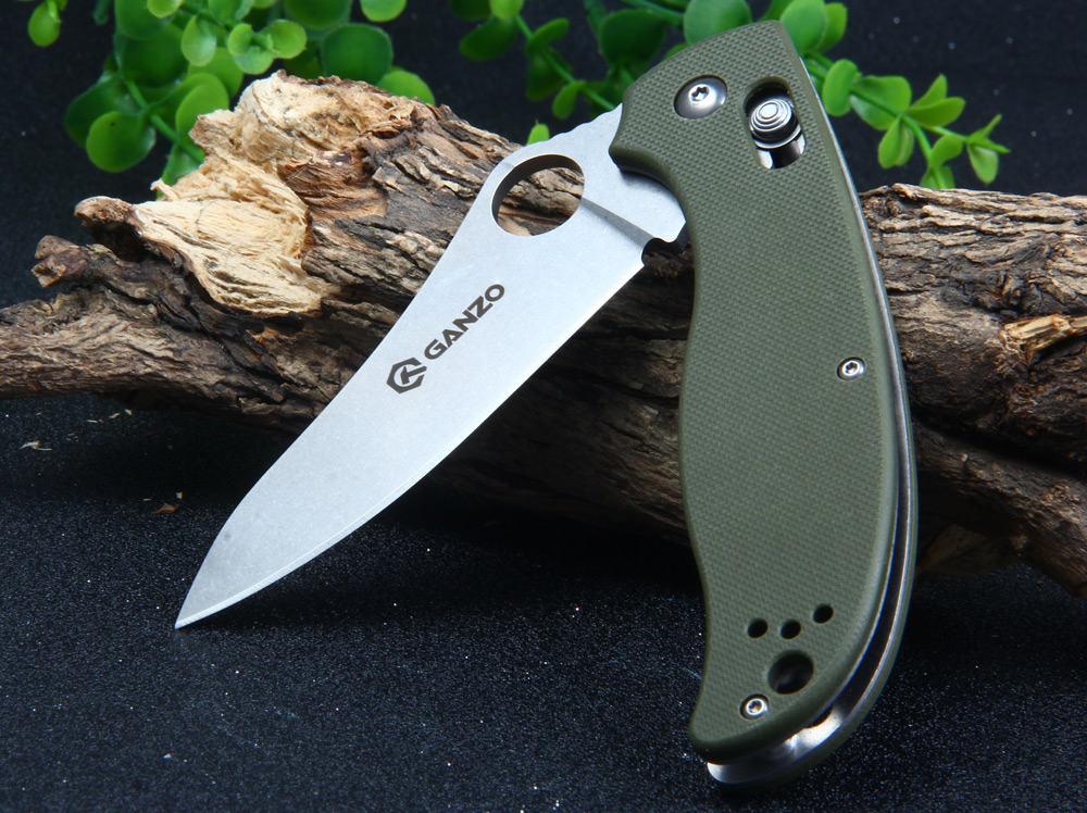 GANZO G733-BK Axis Lock 58HRC Pocket Knife with 440C Blade
