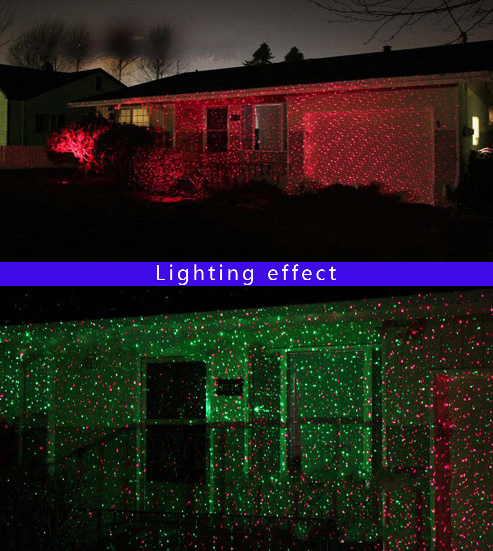 Outdoor IP65 Waterproof Red Green Moving Twinkle Laser Lights Projector Decorations for Garden Lawn House Christmas