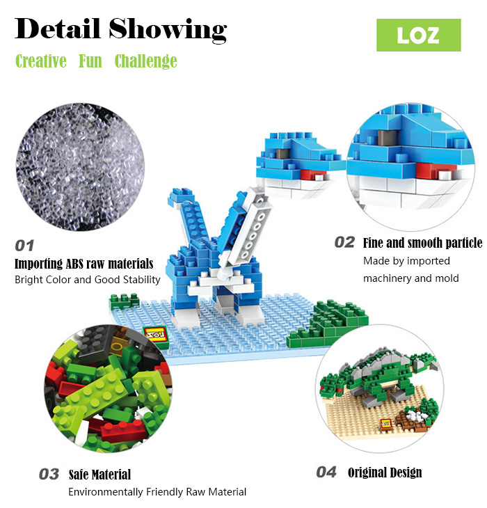 LOZ 180Pcs Jurassic Park 9486 Triceratops Building Block Educational Toy Christmas Present