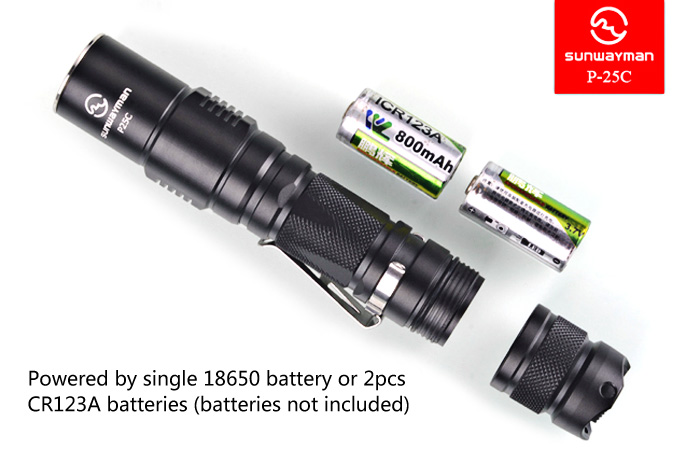 Sunwayman P25C CREE XM - L2 U2 1000Lm 18650 LED Flashlight