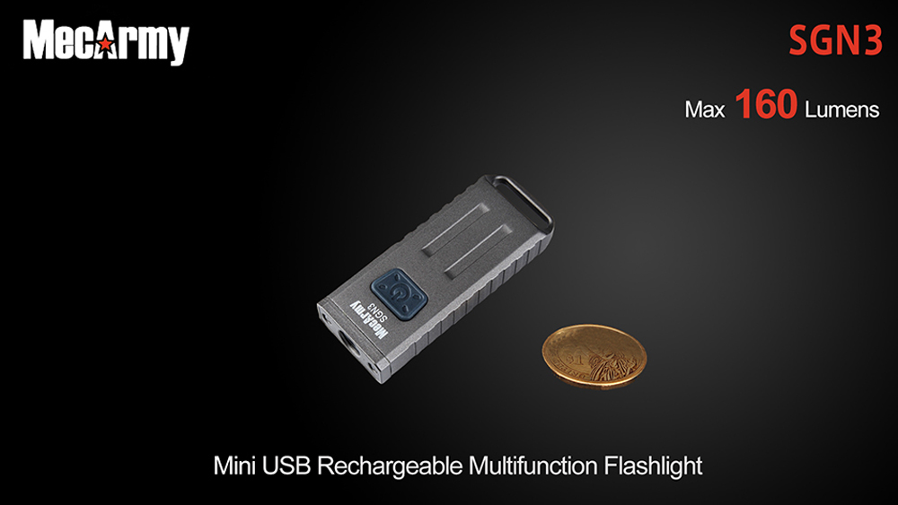 MecArmy SGN3 CREE XP - G2 160LM Rechargeable Mini LED Flashlight