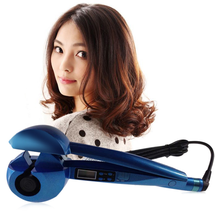 Silent Automatic Ceramic Hair Curler LCD Display Adjustable Temperature Curling Iron Tools Beauty Gadget