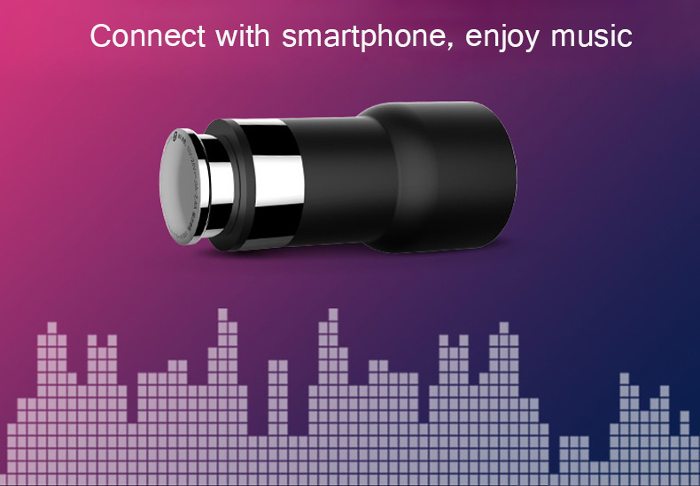 Original Xiaomi ROIDMI 5V / 3.1A Bluetooth 4.0 Car Charger Adapter with FM Transmitter Function
