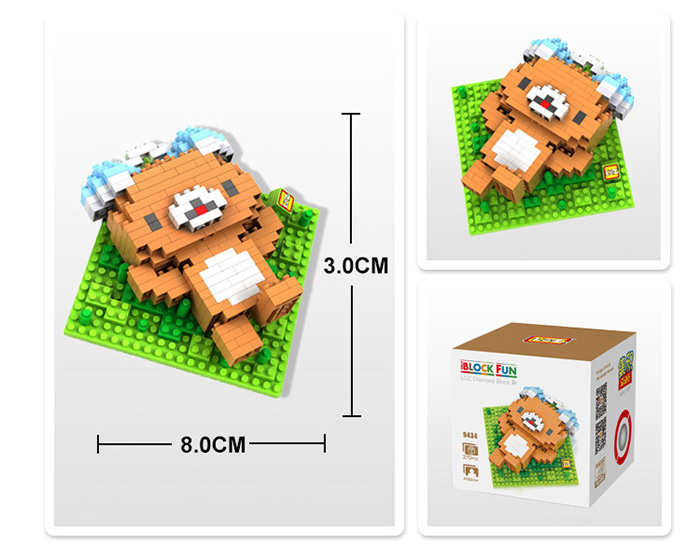 LOZ 270Pcs 9434 Bear Style Building Block Educational Toy Christmas Present