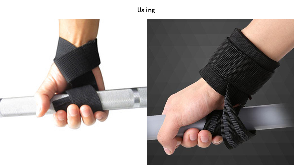 1 Pair Weight Lifting Training Gym Wrist Support Gloves Wrap Hand Bar Straps