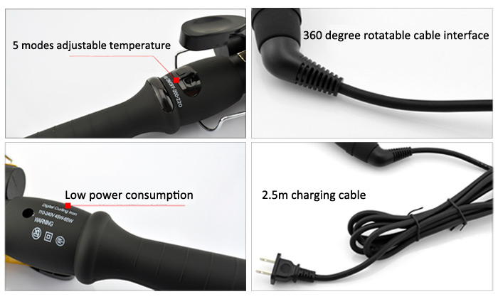 Egg Roll Style Electric Hair Curling Wand Cool Curly Hairstyles Tools