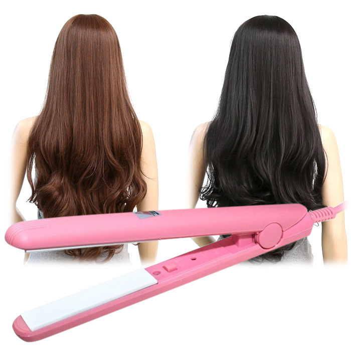 Mini Ceramics Hair Straighteners Electric Iron Hairstyling Tools