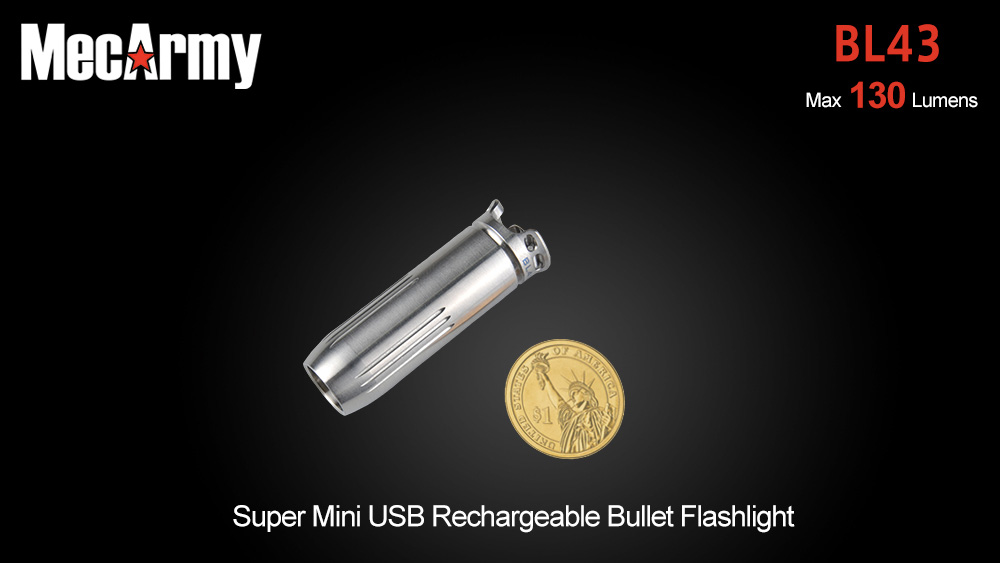 MecArmy BL43 CREE XP - G2 130LM Rechargeable Bullet LED Flashlight