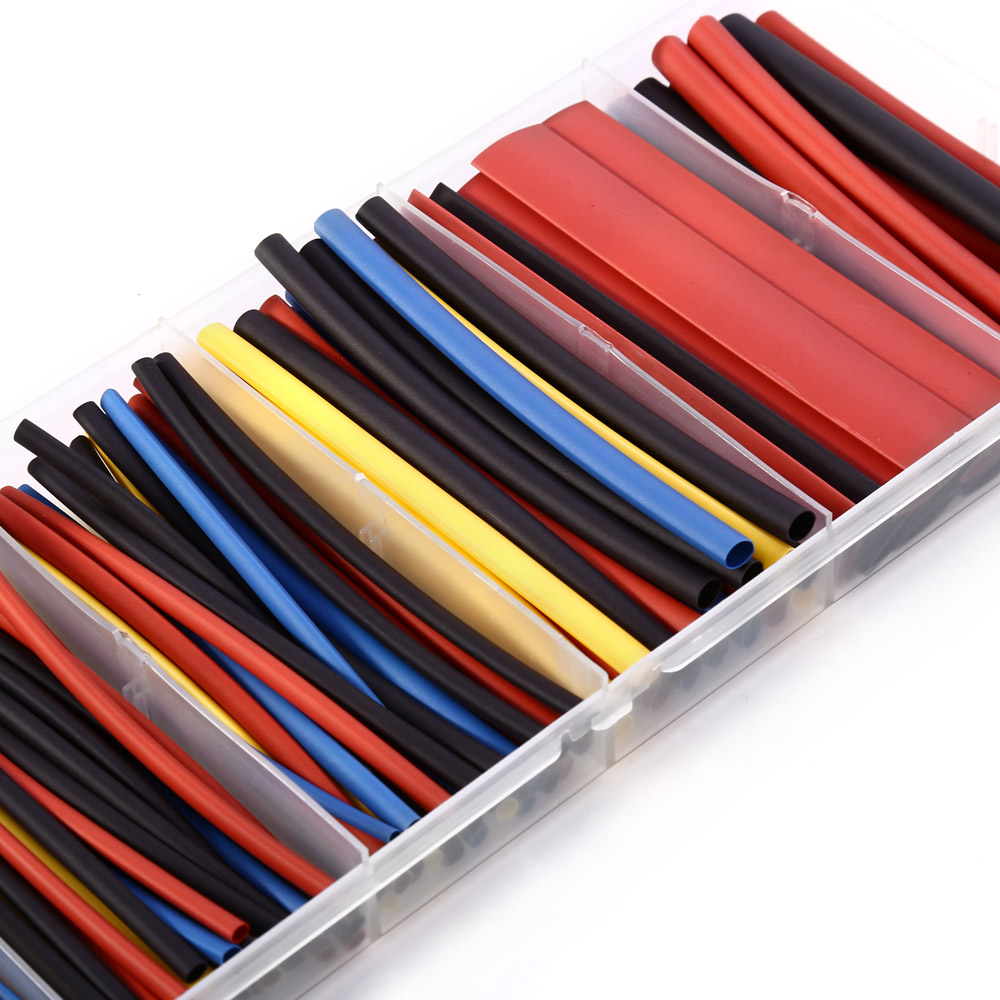 160PCS Heat Shrink Tube Sleeving Set Wire Cable 6 Size with Storage Box