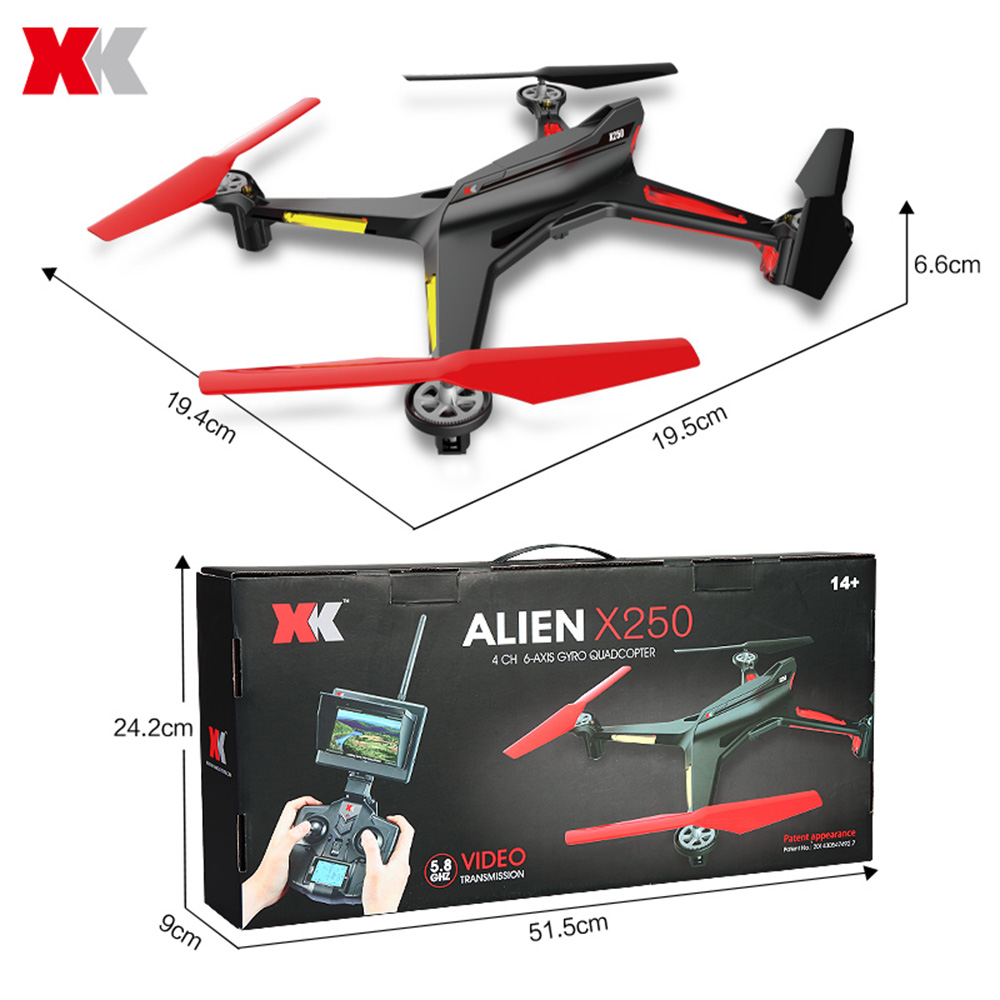 XK X250 - B WIFI FPV HD 720P CAM 2.4G 4 Channel 6-axis Gyro Remote Control Quadcopter
