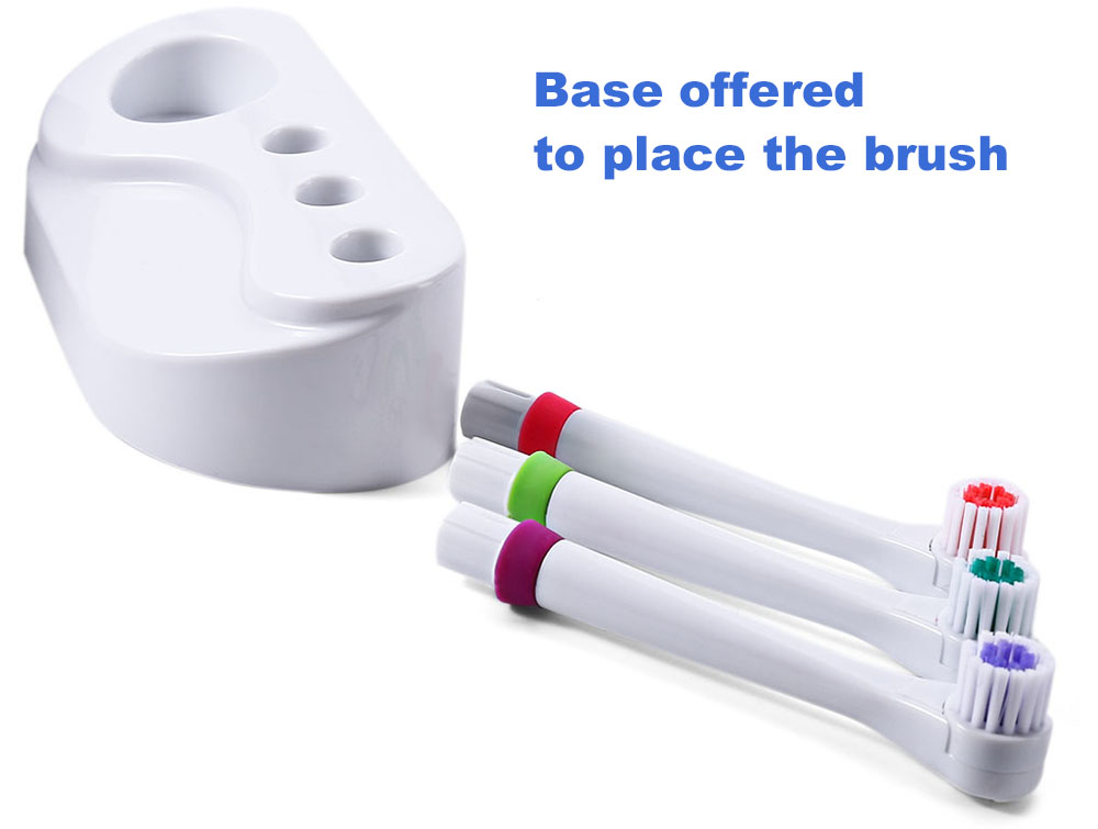 Electric Toothbrush with 4 Brush Heads Oral Hygiene Dental Care Accessories