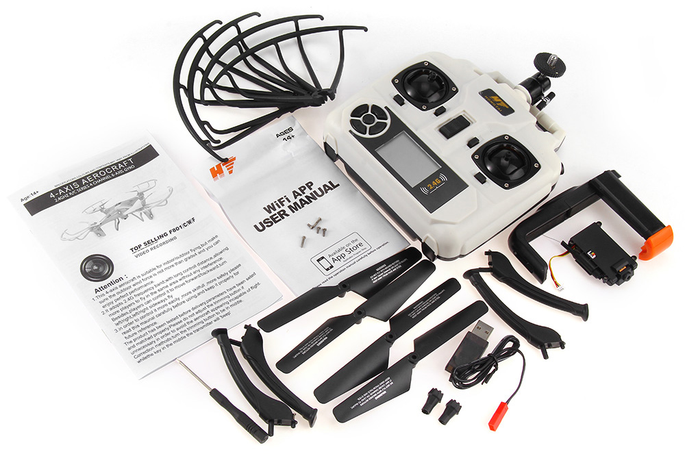 HT F801W WIFI FPV Real Time Transmission 2.4GHz 4CH RC Quadcopter with 2.0MP Camera