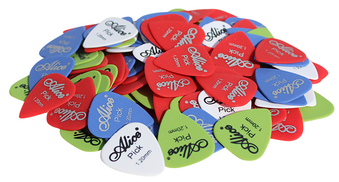 Alice ABS Pick Guitar Instrument Acessory 100Pcs / Set Christmas Present