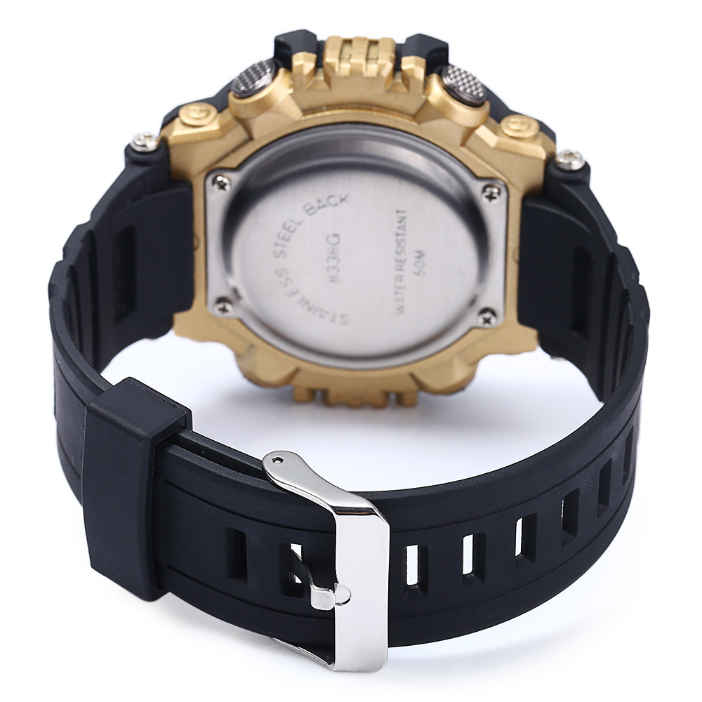 8338G Alarm Day Date Stopwatch Display Men LED Sports Watch