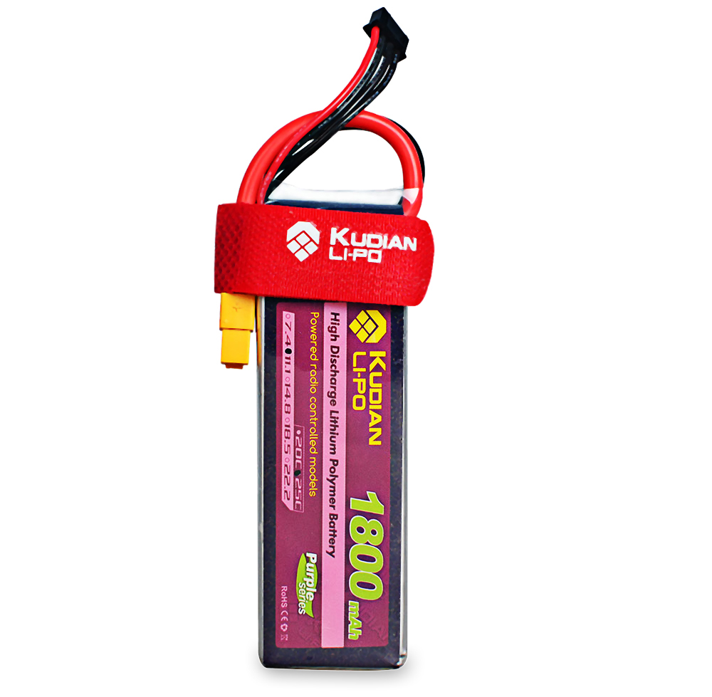Kudian XT60 Plug 3S 11.1V 1800mAh 25C Battery Accessory for Fixed-wing Airplane Vehicle Model