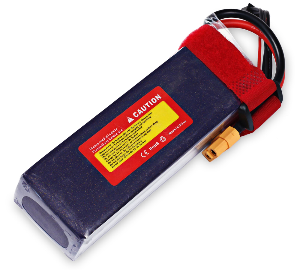 Kudian XT60 Plug 4S 14.8V 3300mAh 35C Battery Accessory for Fixed-wing Airplane Vehicle Model