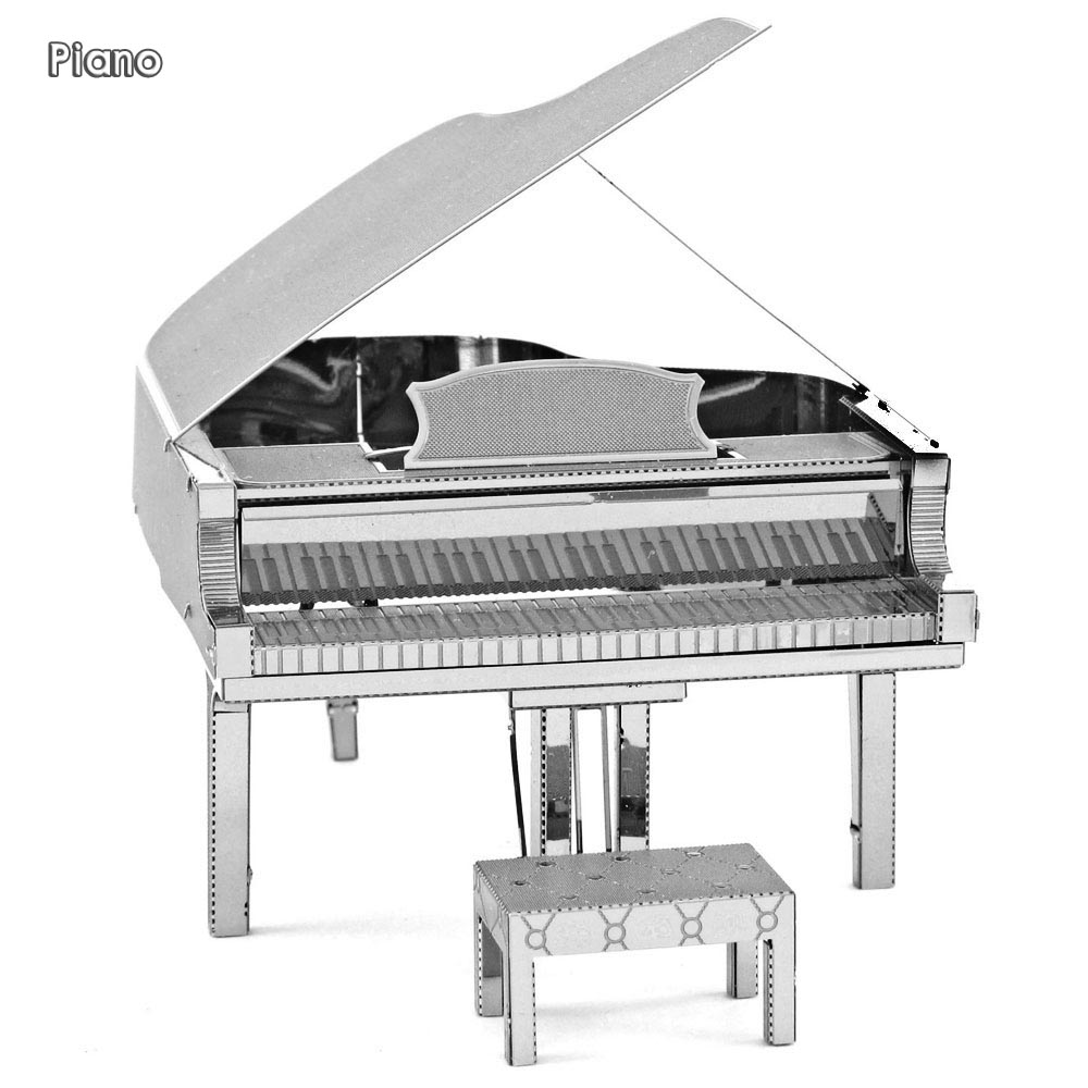 Piano 3D Metal Model Metallic Nano Laser Cut Puzzle Educational DIY Assembling Toy